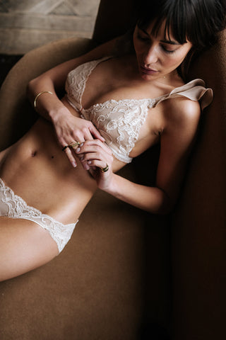 The Ruffled Bralet - Nude