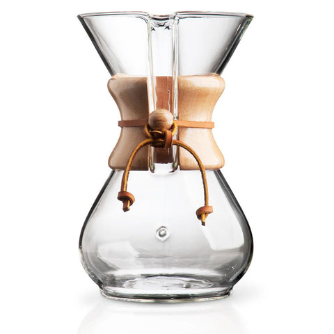 Chemex® 10-Cup Pour-Over Wood Collar Glass Coffee Maker