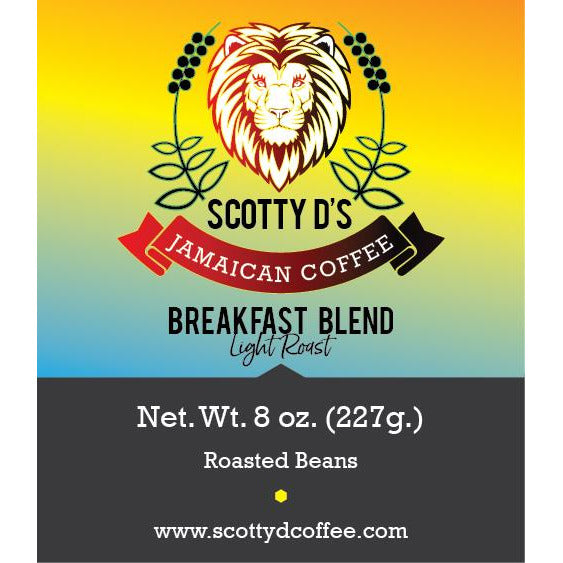 "Jamaican Blue Mountain ""Breakfast Blend"" Light Roast"