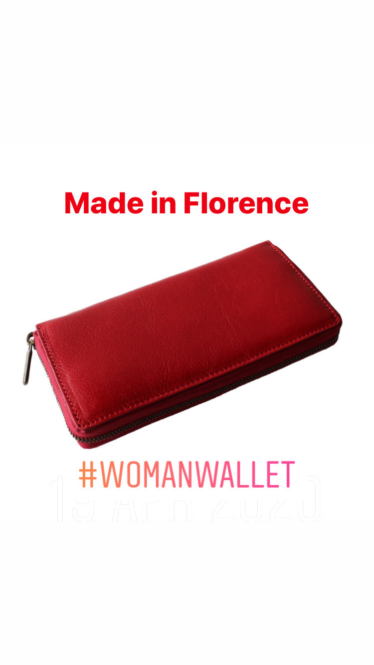 Leather woman wallet; portafoglio da donna in pelle