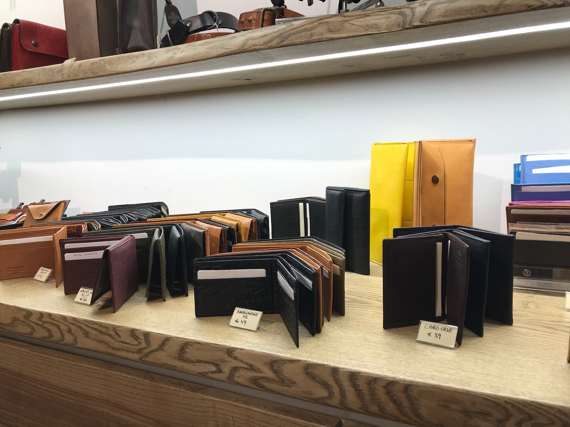Wallet shelf