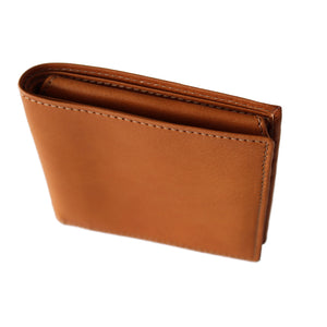 Man wallet in vegetable tanned leather, Portafoglio uomo in pelle conciata al vegetale