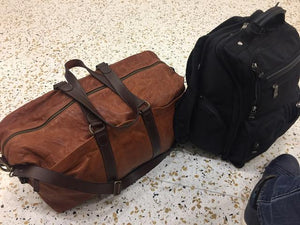 Handmade duffel bags, travel in style