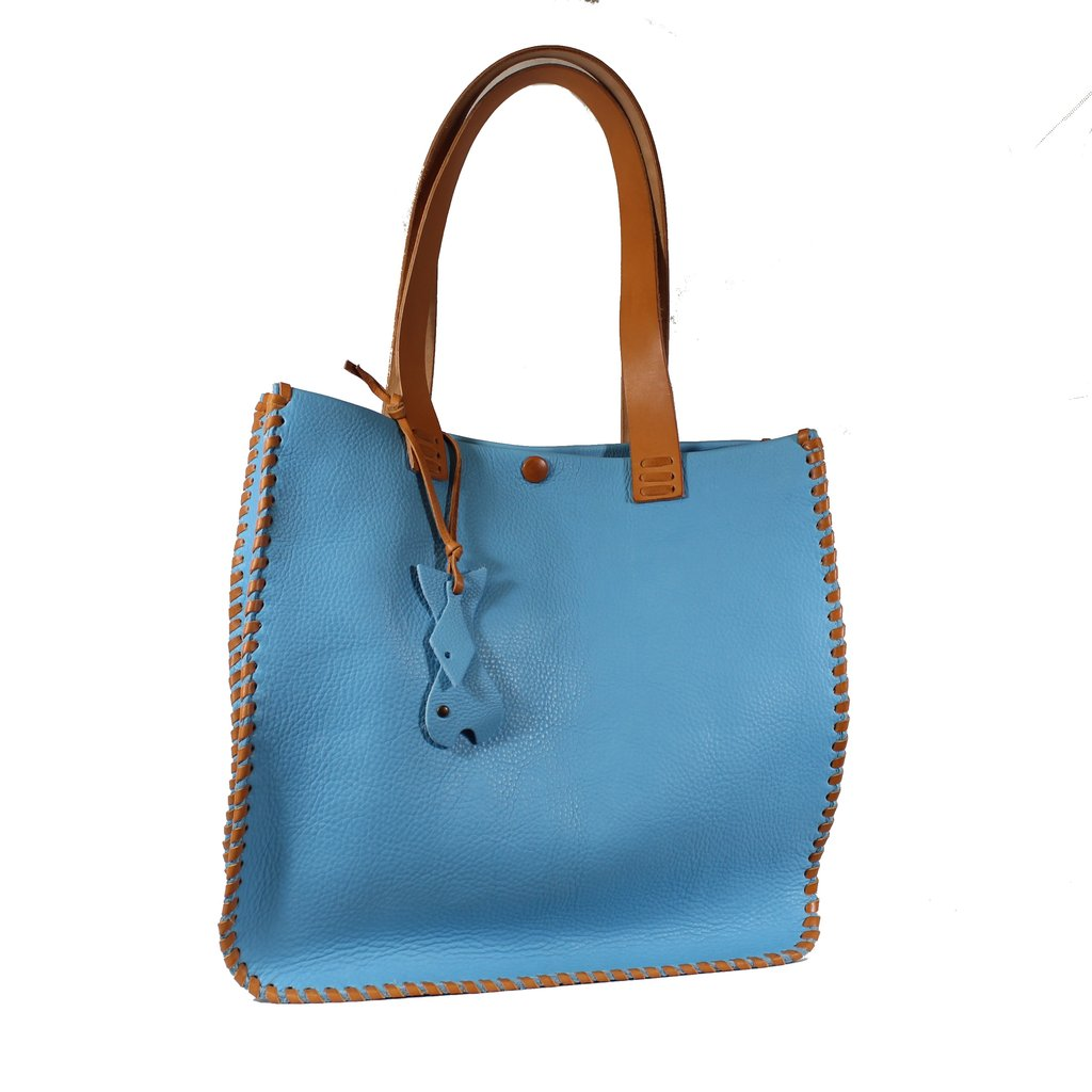 Italian leather shopper bags, quality Made in Italy
