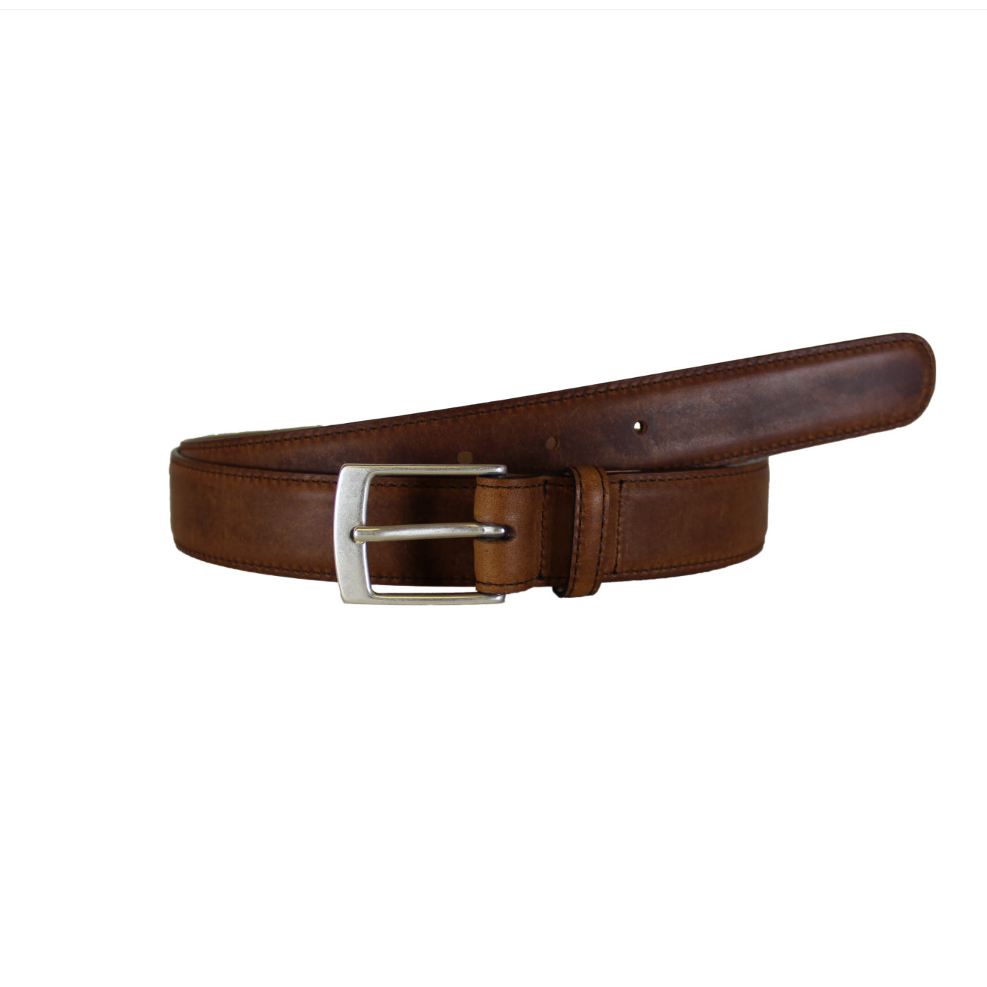 "Brown Dress Soft Vegetable Tanned Leather Belt (Width 30mm - 1¼"")"