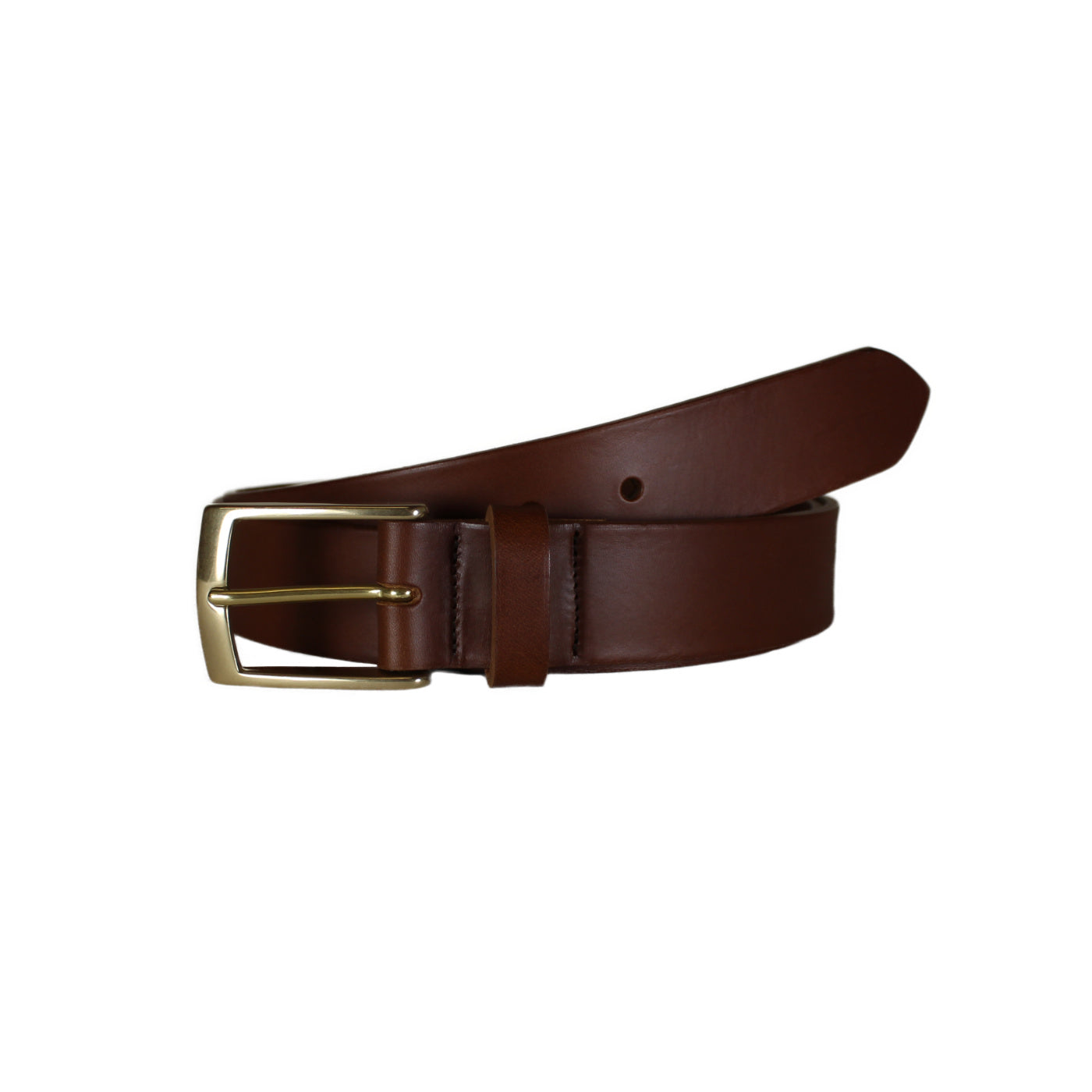 "Brown Smooth Vegetable Tanned Leather Belt (Width 35 mm - 1 ½"")"