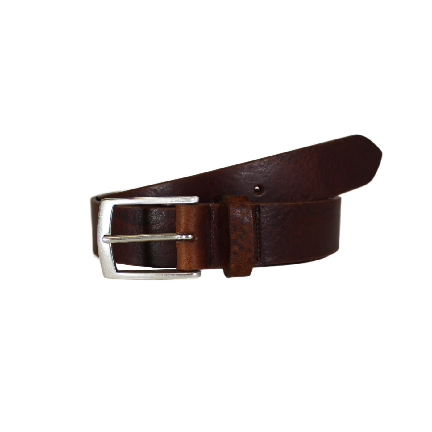 "Brown Rugged Vegetable Tanned Leather Belt (Width 35 mm - 1 ½"")"