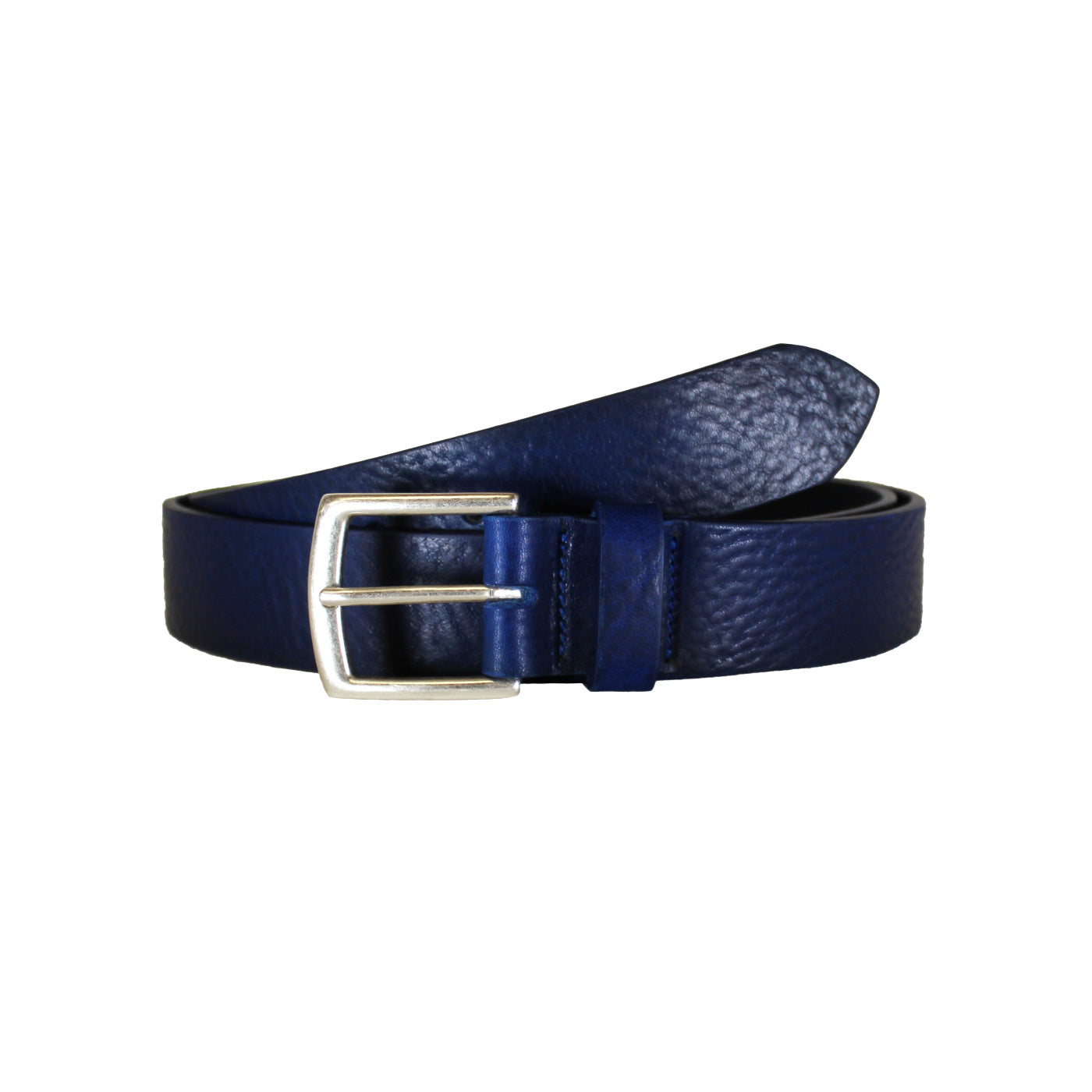 "Blue Rugged Vegetable Tanned Leather Belt (Width 35 mm - 1 ½"")"