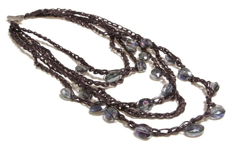 Crochet Deluxe Necklace - Roman-Glass-Jewelry.com  - 1