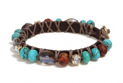 """Natural Turquoise Beauty"" Bracelet - Roman-Glass-Jewelry.com"