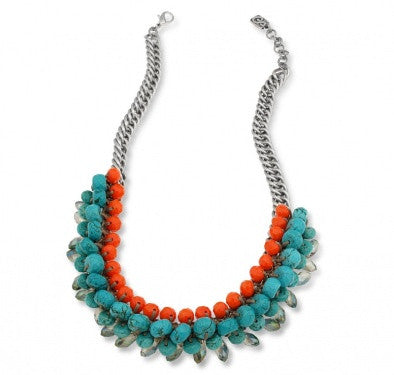 """Turquoise Beauty"" Necklace - Roman-Glass-Jewelry.com"
