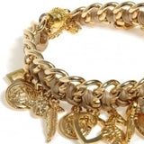 Golden Charms Bracelet - Roman-Glass-Jewelry.com  - 2