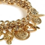 Golden Charms Bracelet - Roman-Glass-Jewelry.com  - 3
