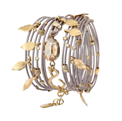 Gold and Crystal Bracelet - Roman-Glass-Jewelry.com