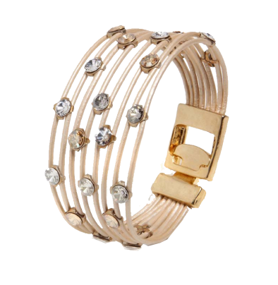 Gold Crystals Delights Bracelet - Roman-Glass-Jewelry.com