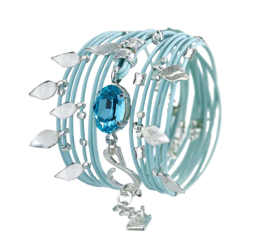 Baby Blue Bracelet - Roman-Glass-Jewelry.com