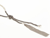 """The Metal Tassel"" Necklace - Roman-Glass-Jewelry.com  - 2"
