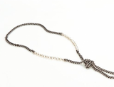 """The Metal Tassel"" Necklace - Roman-Glass-Jewelry.com  - 3"