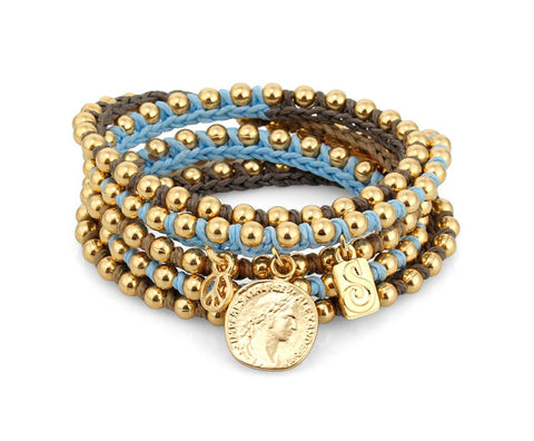 Coin Wrap Bracelet - Roman-Glass-Jewelry.com