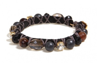 """Black Hematite"" Bracelet - Roman-Glass-Jewelry.com"