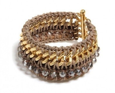 Gold Crochet Bracelet - Roman-Glass-Jewelry.com