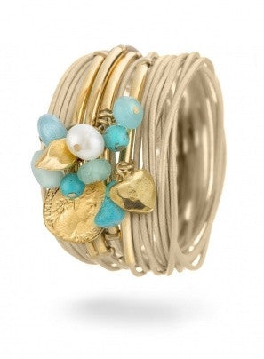 """Summer Dream"" Bracelet - Roman-Glass-Jewelry.com"