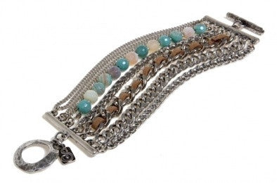 Silver & Amazonite Mix Bracelet - Roman-Glass-Jewelry.com