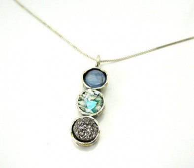 """Three Circles"" Pendant - Roman-Glass-Jewelry.com  - 1"
