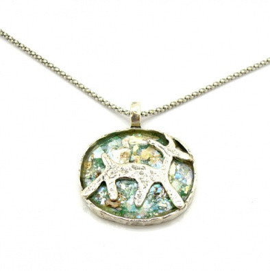 Animal Roman Glass Pendant - Roman-Glass-Jewelry.com  - 1