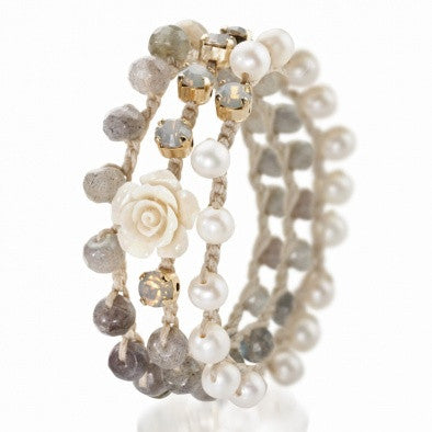 Romantic Flower Bracelet - Roman-Glass-Jewelry.com  - 1