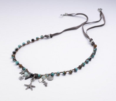 """Sea Beauty"" Necklace - Roman-Glass-Jewelry.com"