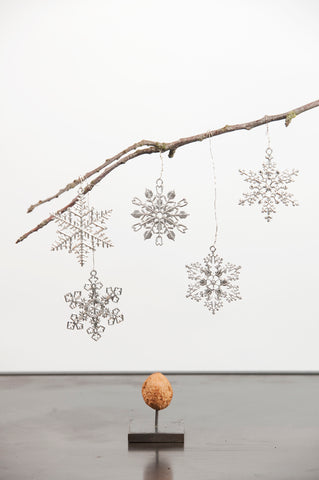 Christmas tin hanging snowflake