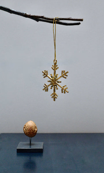 Crystal golden snowflake star