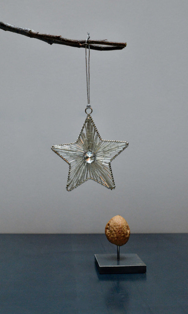 Silver star hanging