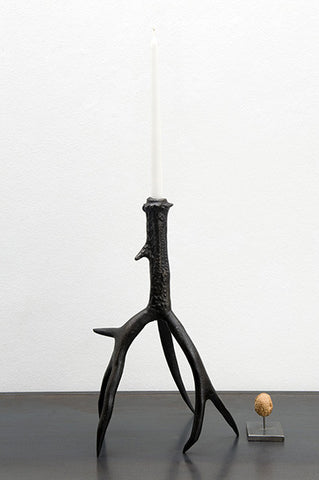 Antler candle stick large