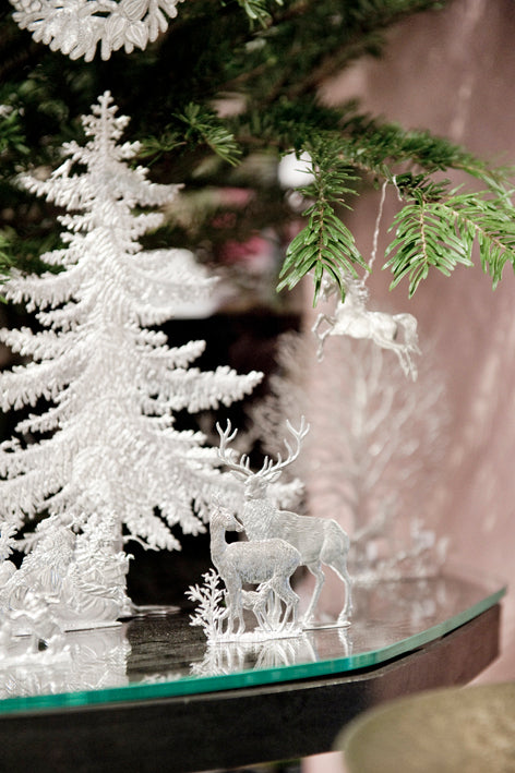 Christmas tin tree decoration