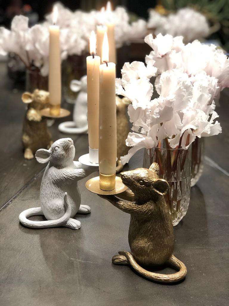 Mouse candleholder small