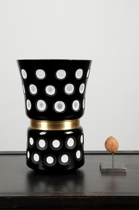 Black And White Dotted Vase Medium The Wunderkammer Taxidermy