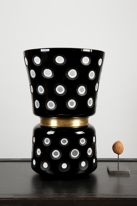 Black And White Dotted Vase Large The Wunderkammer Taxidermy