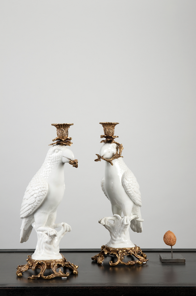 Parrot candle holder set