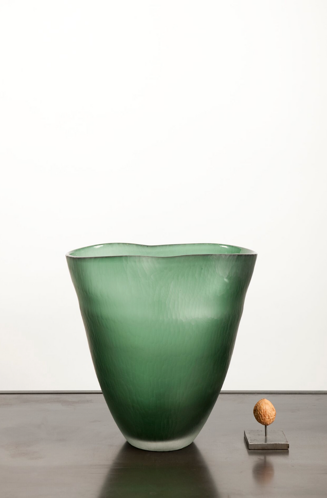 Fold vase glass short