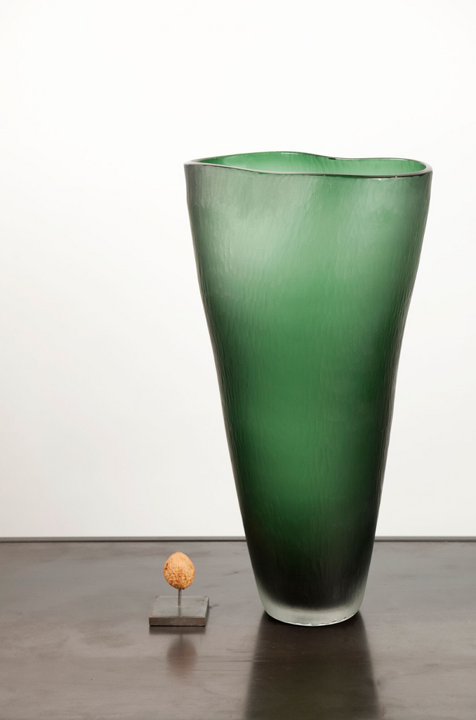 Fold vase glass tall