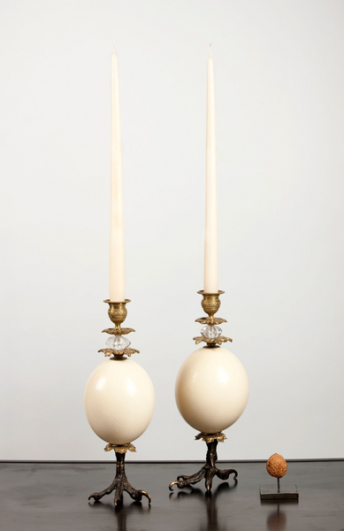 Klaus Dupont ostrich candle holders