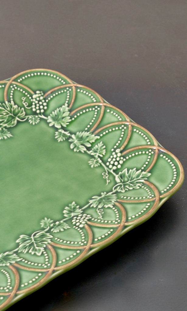Green plate rectangular ceramic