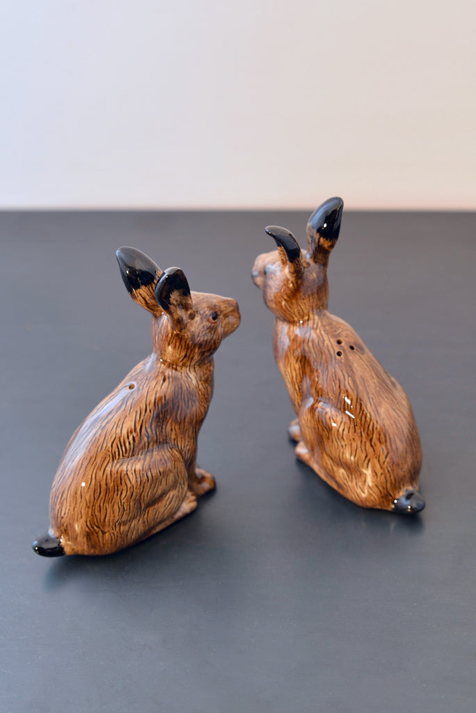 Hare salt & pepper set ceramic