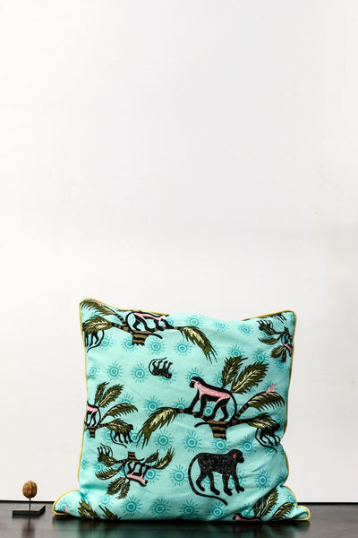 Cushion - Ardmore Monkey Cushion Blue