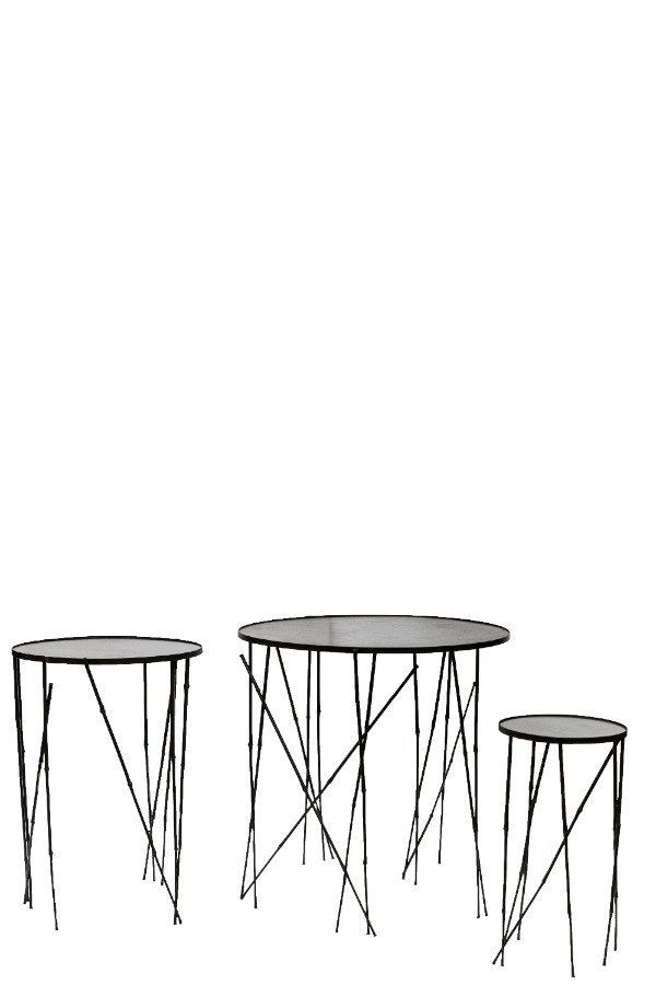 Furniture - Steel Round Table - Bamboo (large)