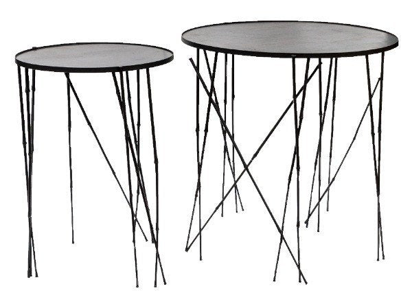 Furniture - Steel Round Table - Bamboo (medium)