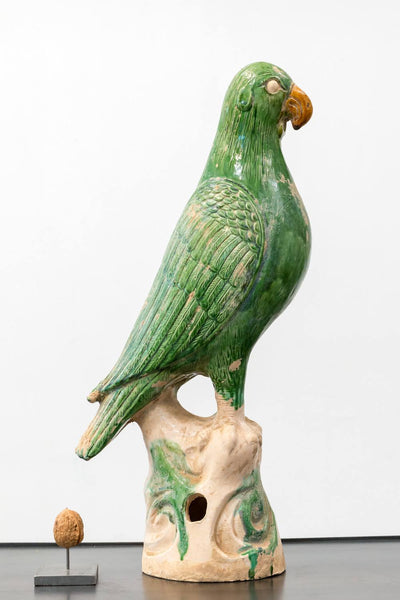 ceramic parrot incense holder papegaai