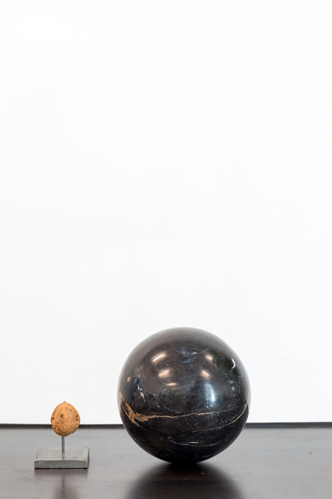 Object - Marble Sphere Black Beige